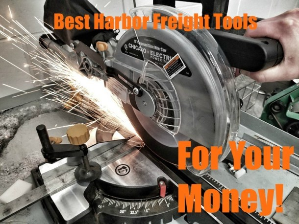 Harbor Freight Miter Saw cutting metal