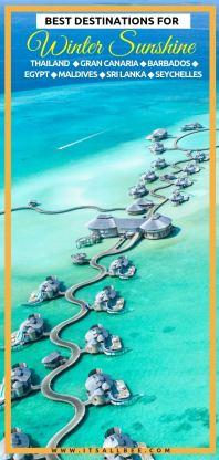 Dreamy Winter Sun Destinations To Escape The Winter Blues + warm places in europe in december, january february - Dubai - Spain - Egypt - Malaysia - UAE - Thailand- Maldives