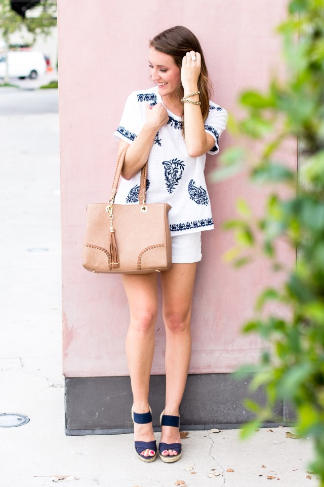 Embroidered Top + All white   Summer Outfit   It's All Chic To Me