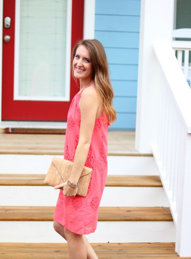 Summer Colors | Coral lace Dress | Summer fashion | It's All Chic To Me