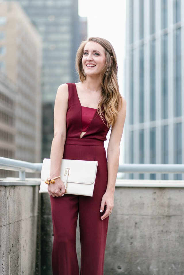 Maroon cut out jumpsuit, Dressy Jumpsuit, What to wear to a wedding