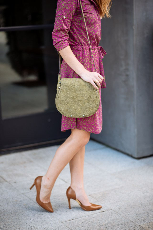 Chic business casual: effortless work attire dress + pumps