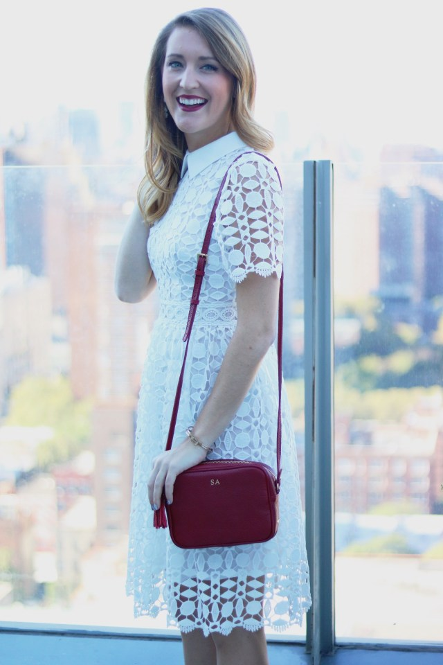 White After Labor Day + Crochet midi dress