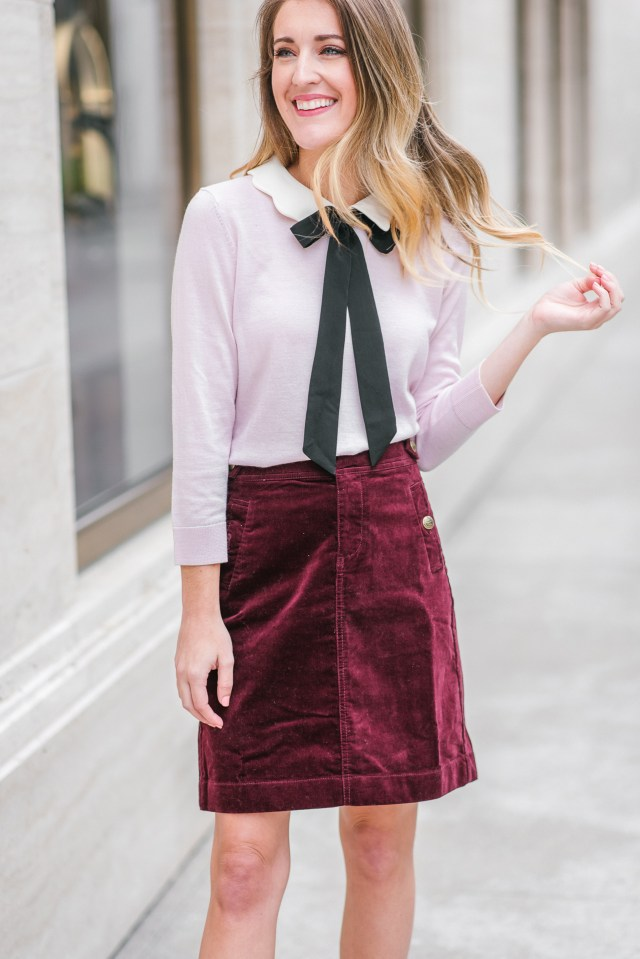 How to style a corduroy skirt