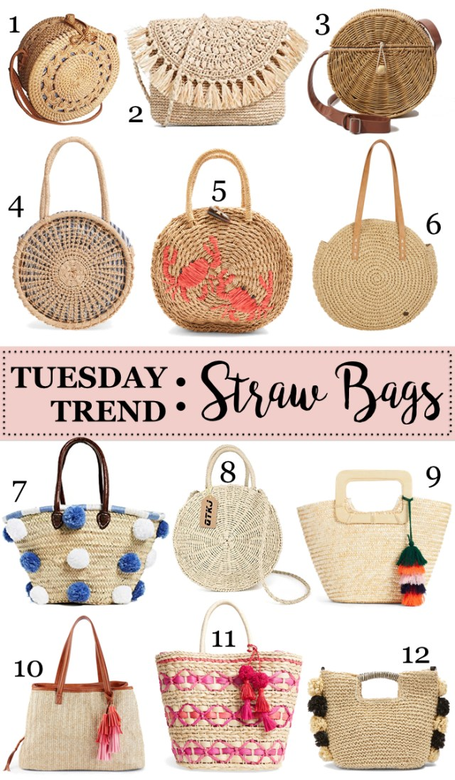 Tuesday Trend: straw bags
