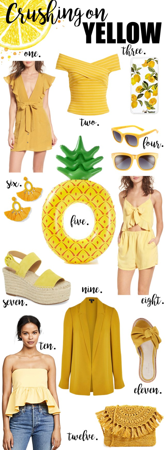 Crushing on Yellow, Yellow collage, Yellow fashion