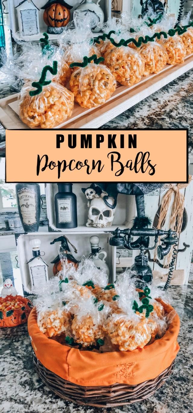 Pumpkin Popcorn Ball Recipe