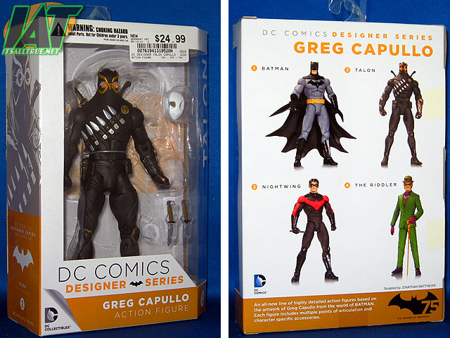 DC Comics Talon Action Figure Greg Capullo Designer Series 1 Collectibles CHOP