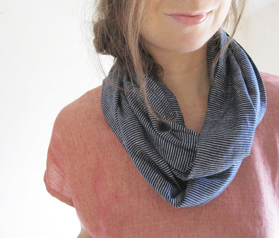 HEMP + ORGANIC COTTON INFINITY SCARF THIMBLE AND ACORN $38 USD A scarf is a must-have for travel.