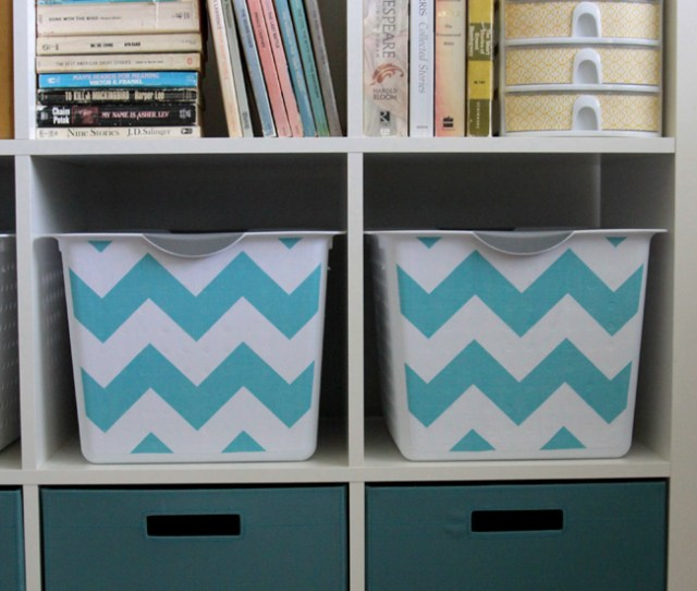 Get Organized With Easy Diy Fabric Covered Storage Bins