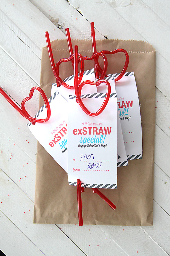 Youre ExSTRAW Special Easy Printable Valentines Day