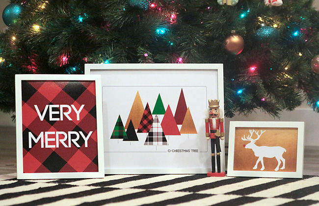 Free Modern Christmas Printables | It's Always Autumn - Modern Christmas printables - free Christmas prints and wall art for your home!