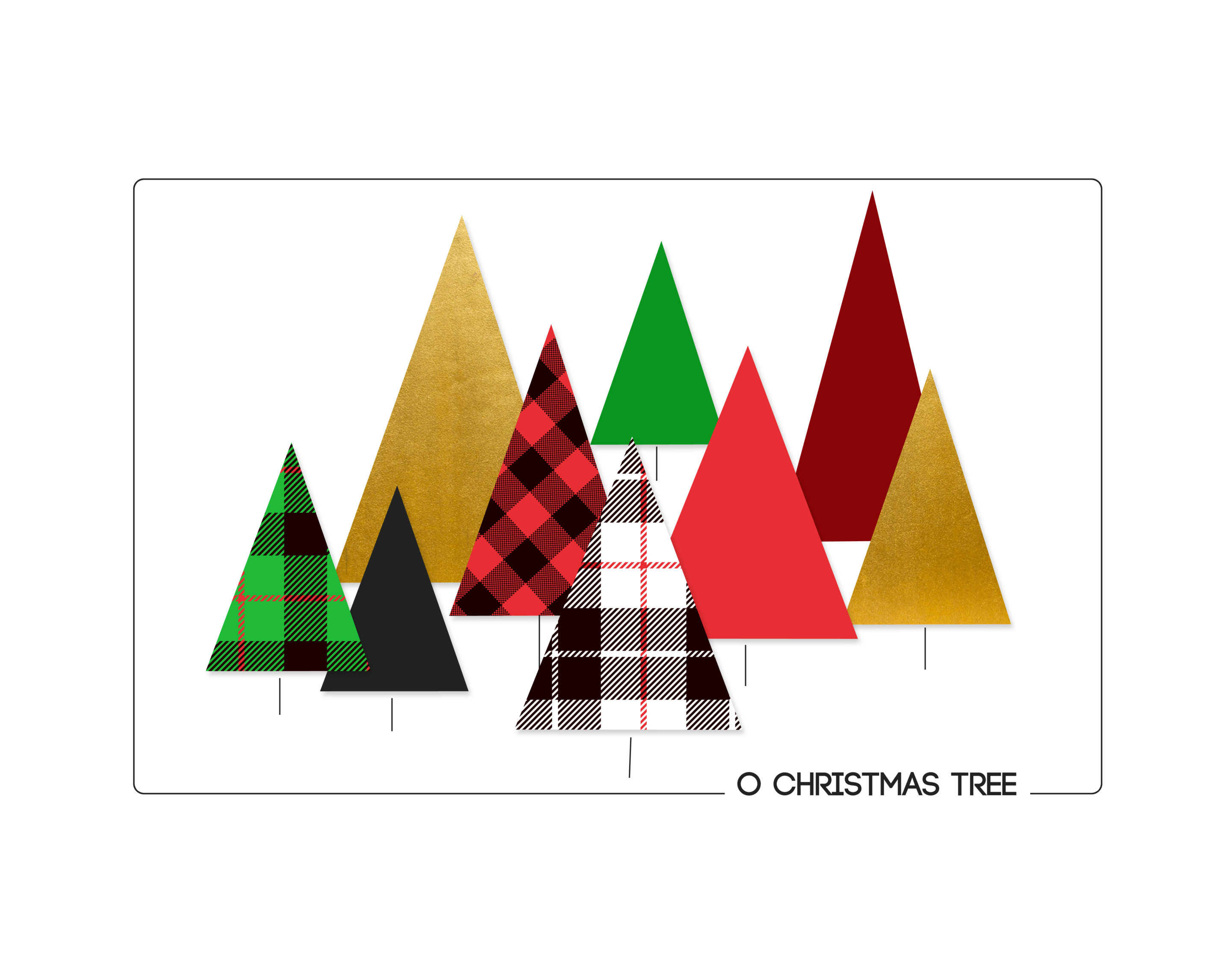 Modern Christmas Printables Its Always Autumn