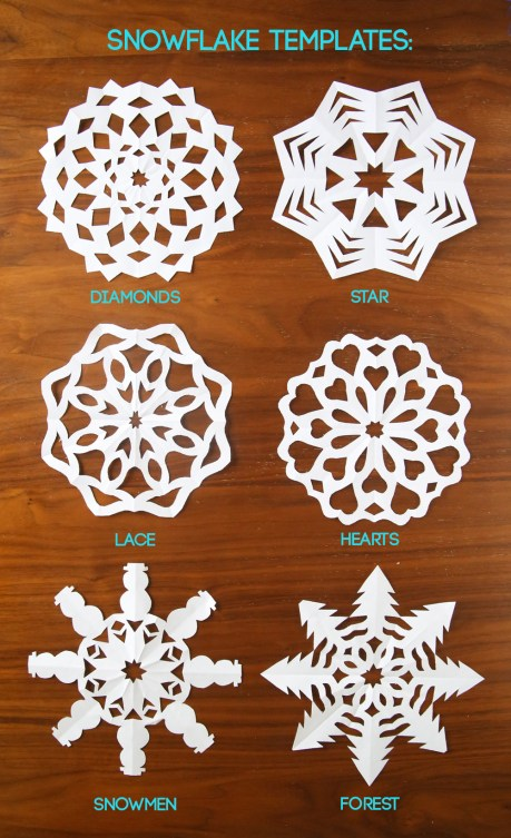 Cutting out snowflakes is one of our favorite holiday traditions! Learn how to cut snowflakes with this video tutorial and free snowflake templates. Easy Christmas or winter craft for kids.