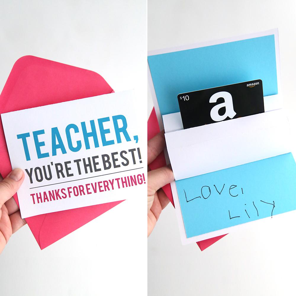 DIY Teacher Appreciation Pop Up Gift Card Holder Its
