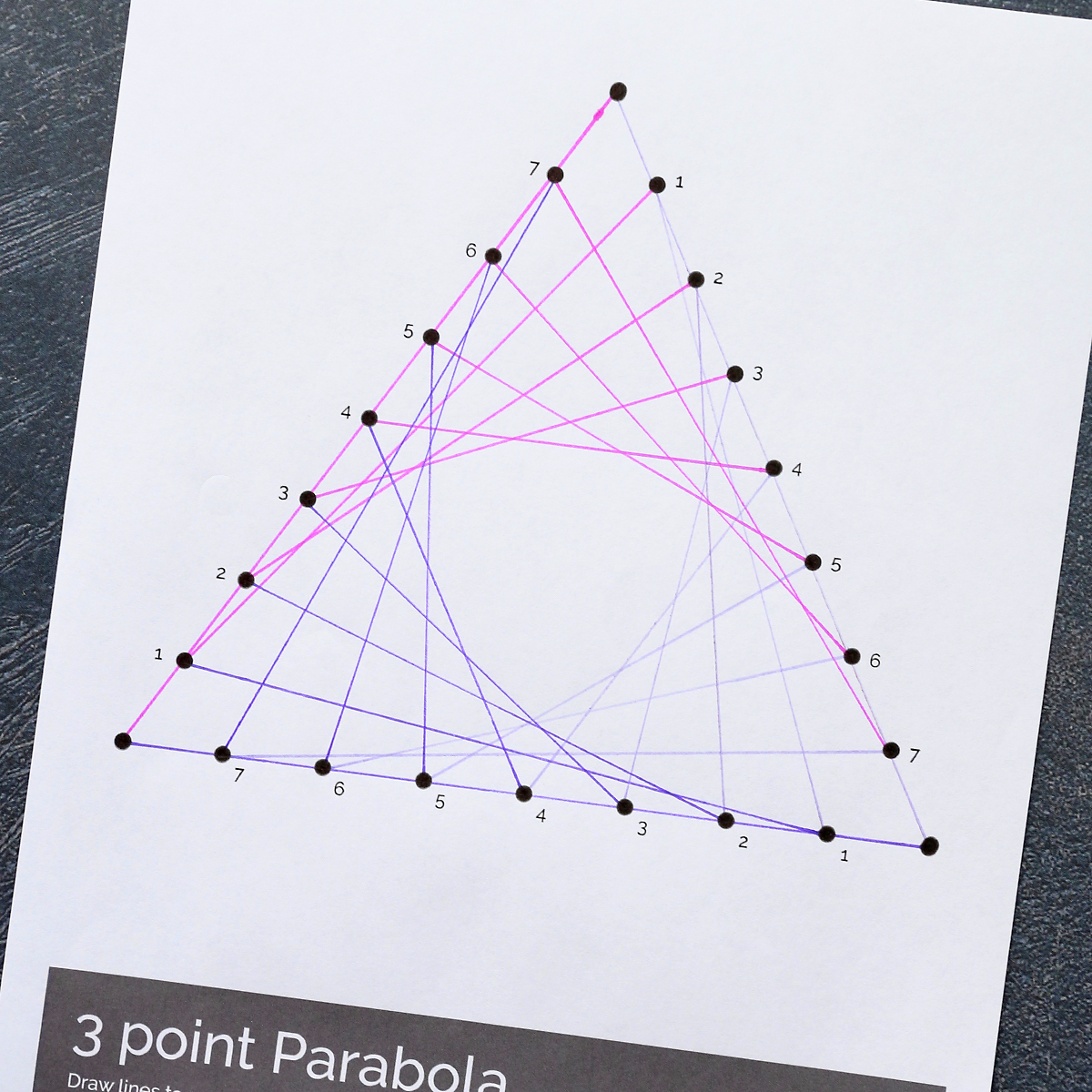 Geometric Line Art Worksheets Easy Art Project For Kids