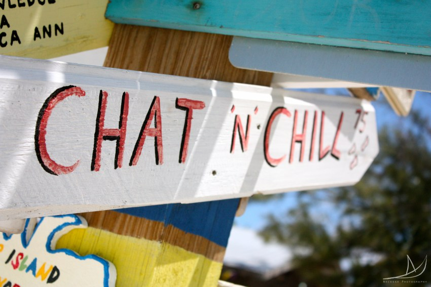 chat n chill sign Bahamian bar