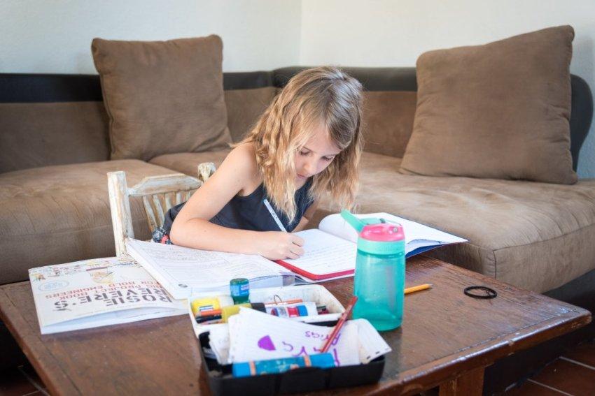 Arias doing homework