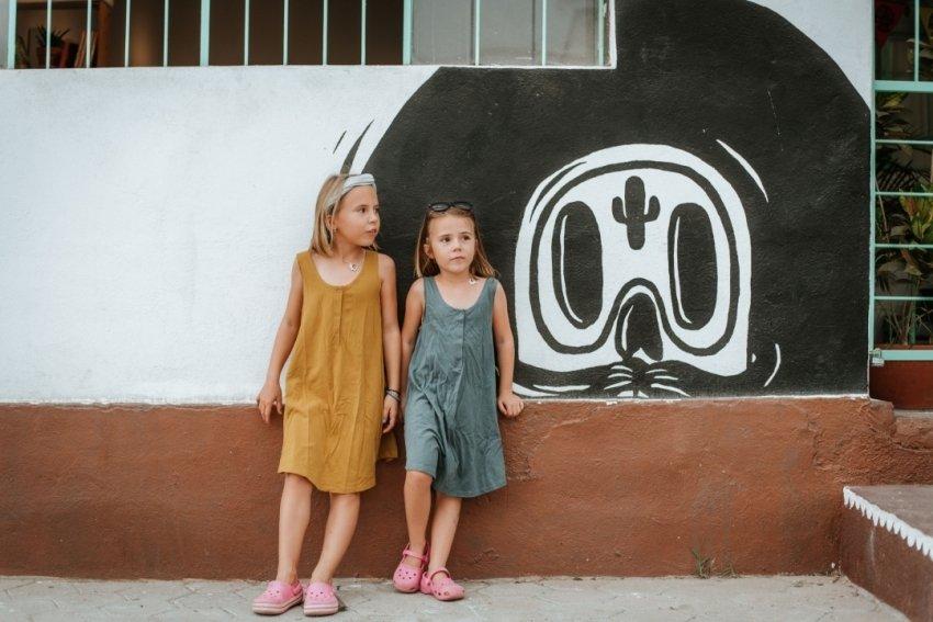Girls hanging out in Todos Santos