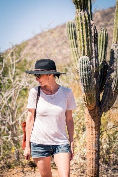 walking around cactus