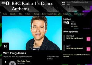 Greg James BBC Radio One Dance Anthems Cube Guys Family Affair