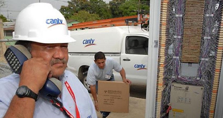 CANTV La Victoria realiza tareas de reparación de líneas telefónicas