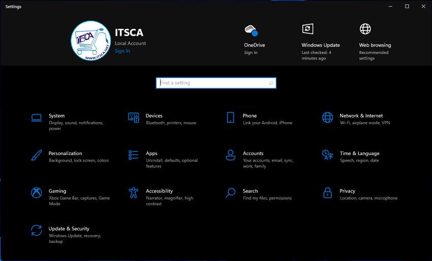 ITSCA - Windows 11 - Configuraciones
