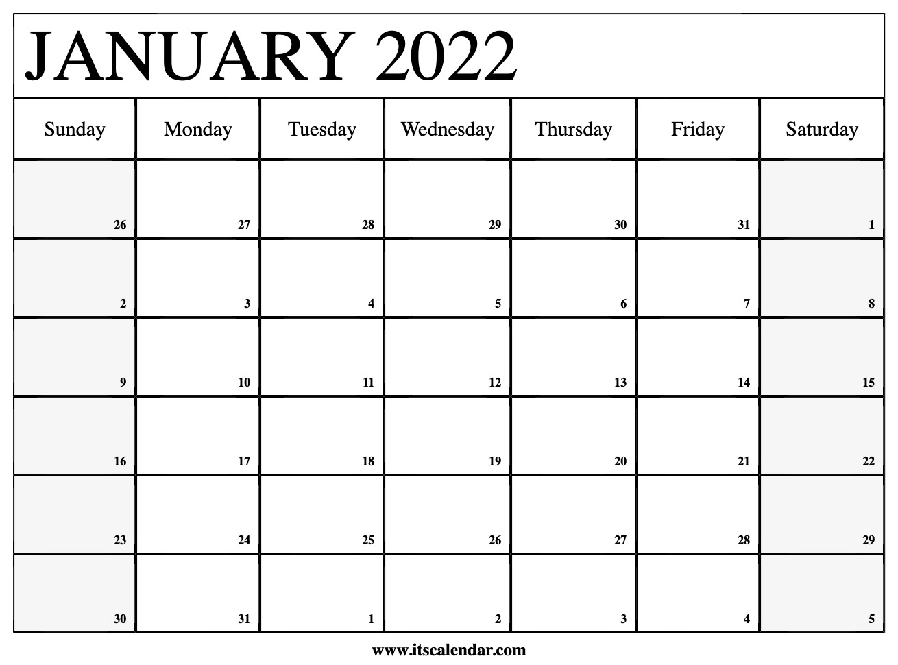The calendar of events lists these seminars and programs. Free Printable January 2022 Calendar