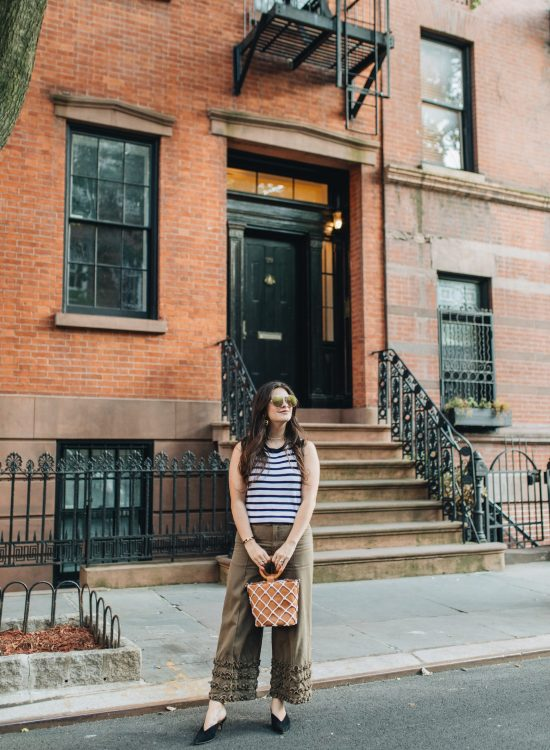 Styling Culottes With Striped Tank For Summer