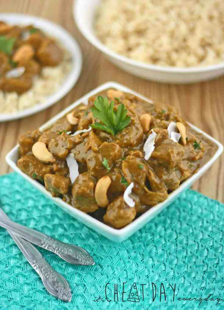 Coconut Honey Cashew Chicken Curry