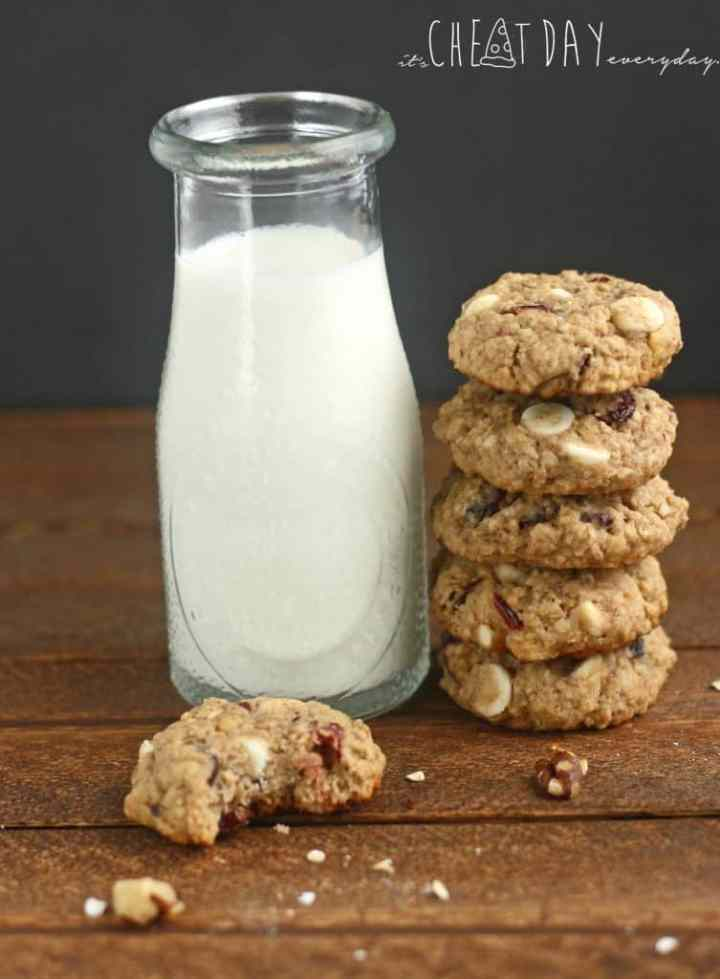 White Chocolate Walnut Cranberry Cookies - It's Cheat Day Everyday
