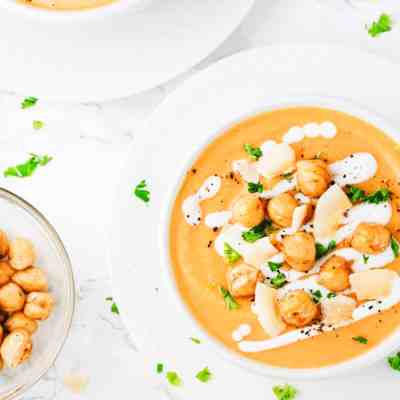 Coconut Chickpea Sweet Potato Soup