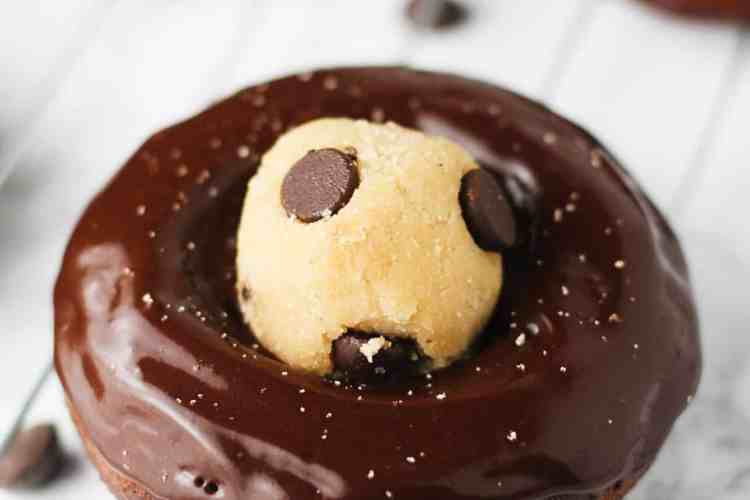 Gluten Free Chocolate Cookie Dough Donuts