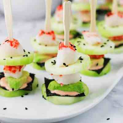 California Roll Low Carb Sushi Stacks
