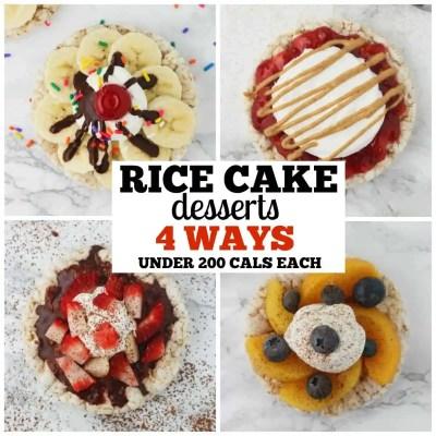 Rice Cake Desserts 4 Ways