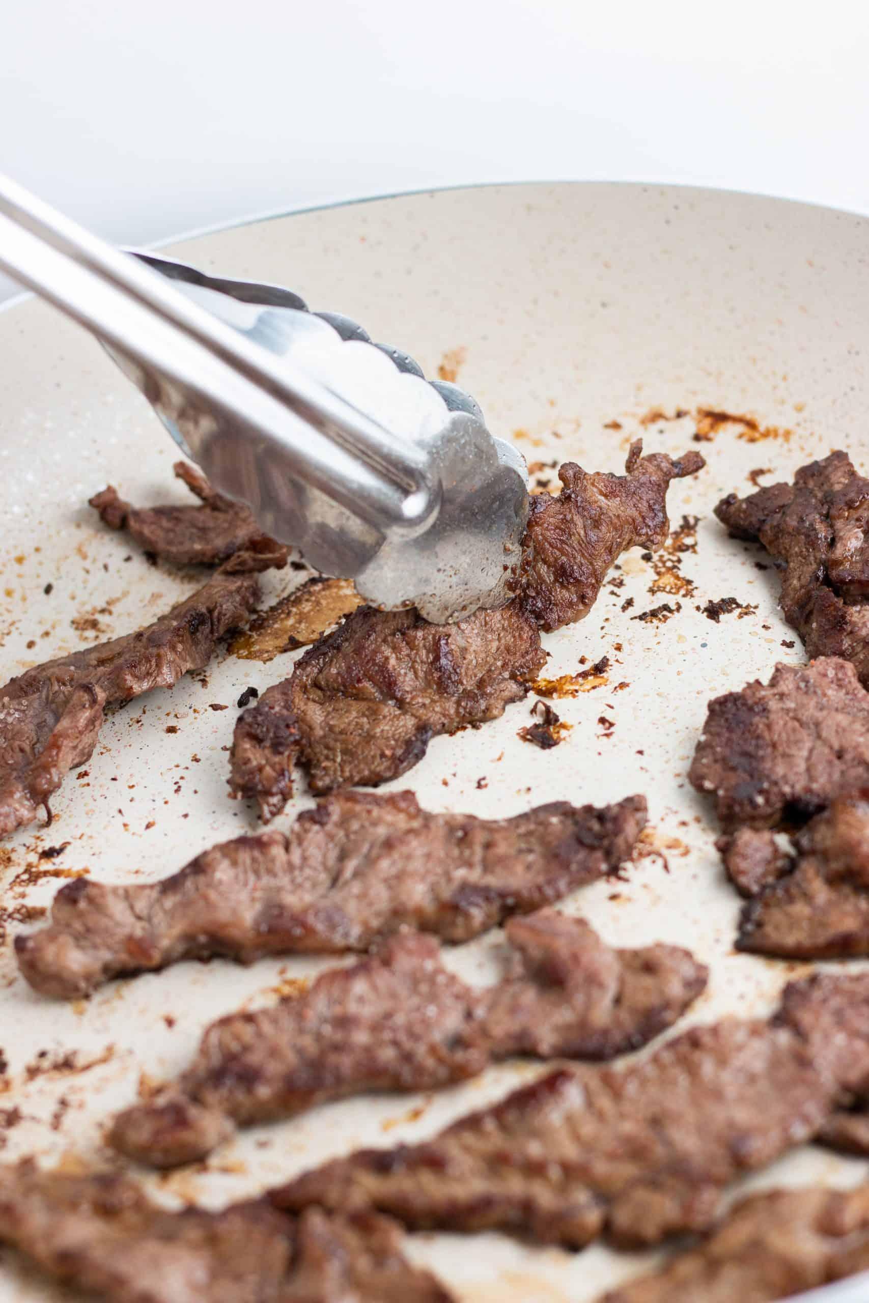 Seared flank steak for low calorie beef stroganoff recipe