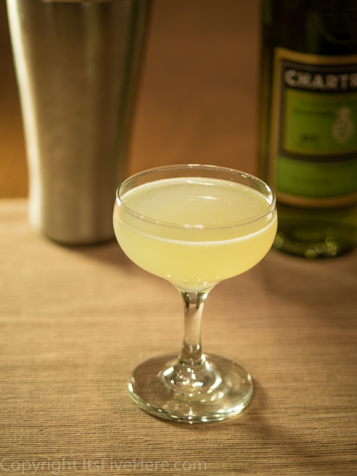 Last Word, a cocktail made with Green Chartreuse