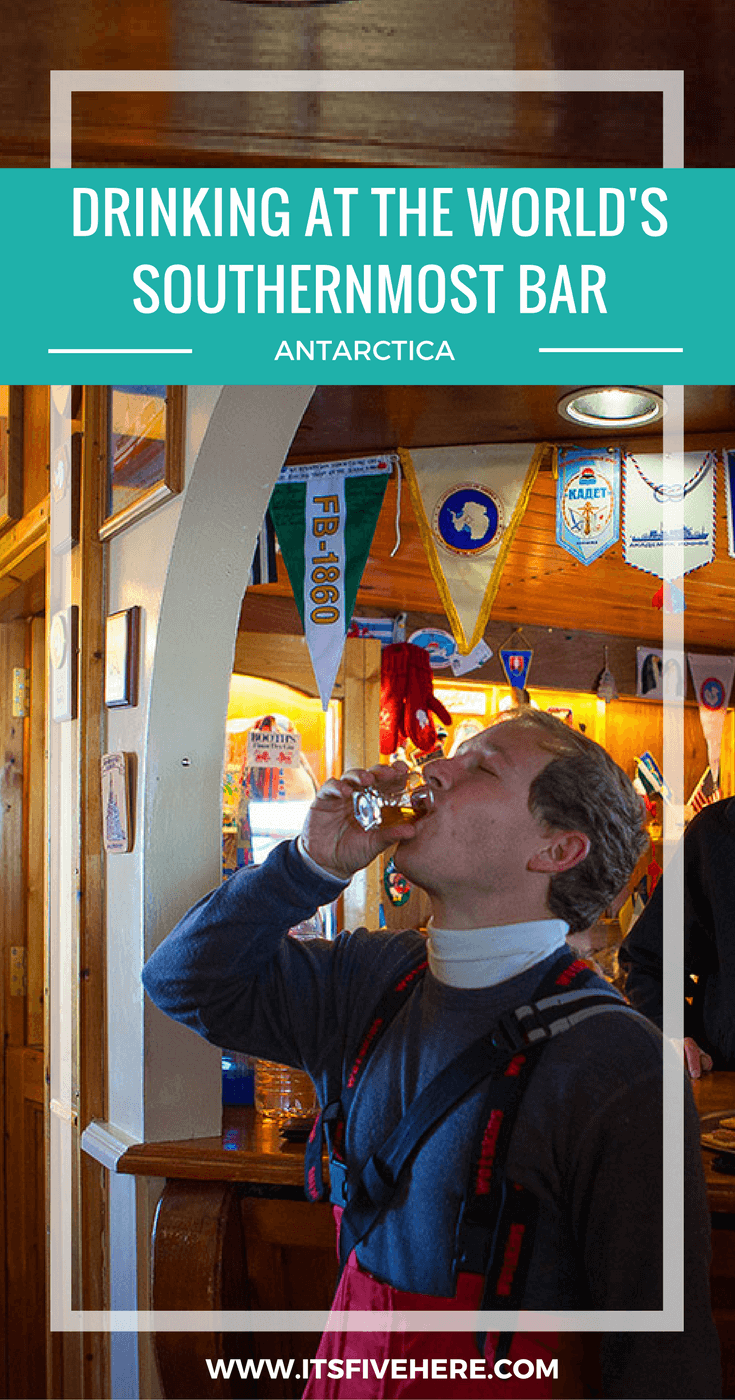 """In """"Drinking Buddies,"""" travel bloggers share their favorite bar experiences. Today, Tim of Annual Adventure gives you the scoop on drinking in Antarctica."""