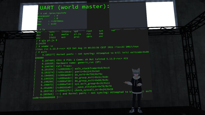 RISC-V emulator in the form of a pixel shader that allowed Linux to run in VRChat