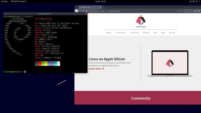 Asahi Linux is taking shape for Apple M1