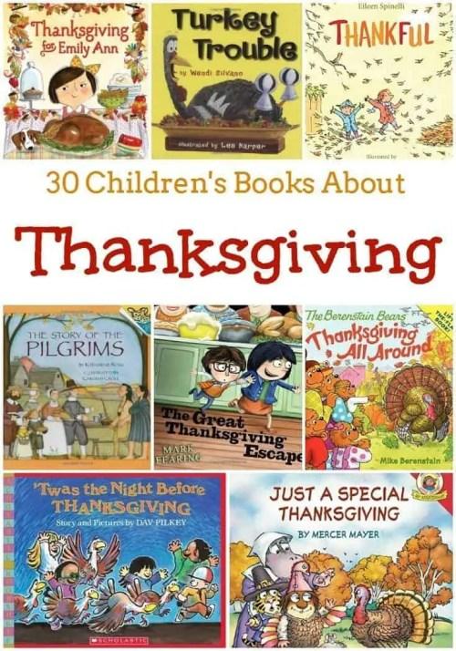 30 Children's Books About Thanksgiving
