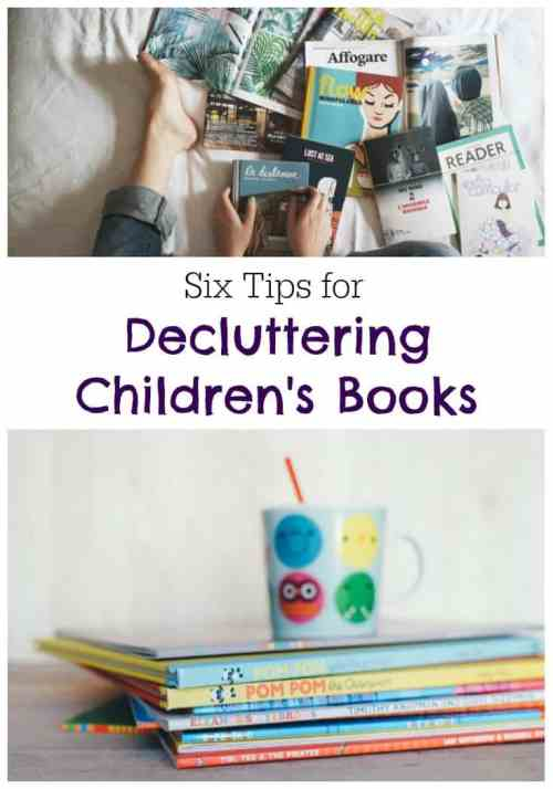 6 Tips for Decluttering Children's Books