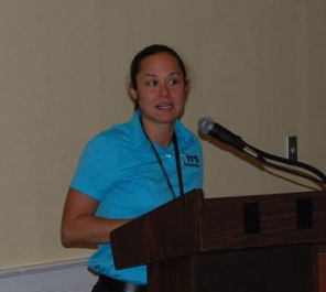 Jenny Tassan, Kimley-Horn, announces Best of ITS Award winners