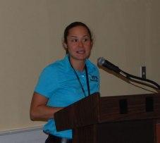 Jenny Johnson, Kimley-Horn, announces Best of ITS Award winners