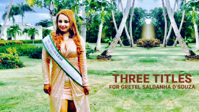 Photo of 3 titles for Gretel Saldanha D'Souza at Miss and Mrs Megaverse 2018