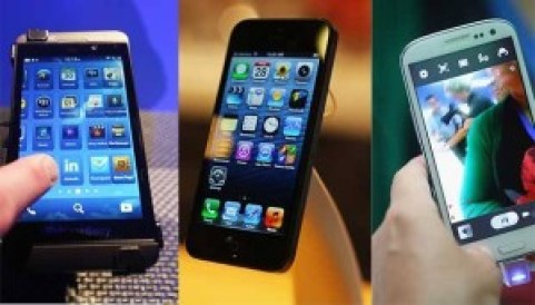 iPhone 5 Galaxy SIII BB Z10