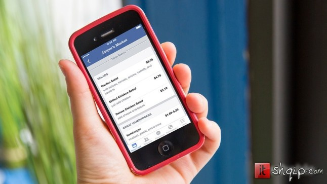 Facebook lejon restorantet të postojnë menytë në faqet e tyre