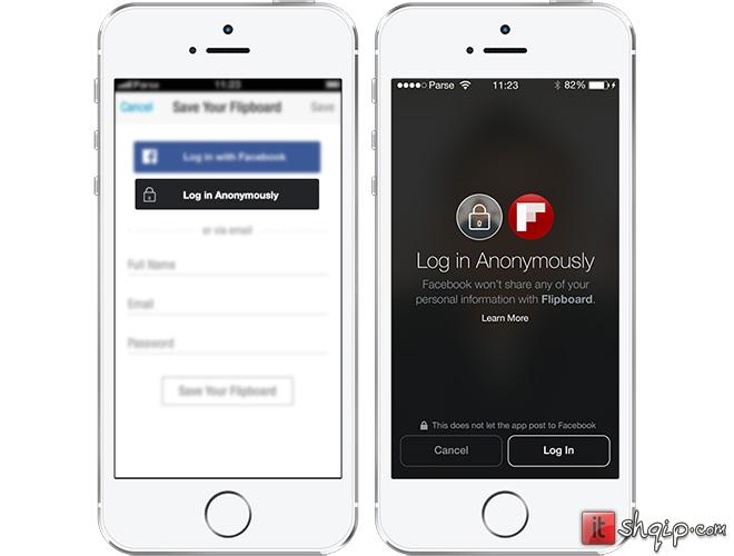 Facebook prezanton Anonymous Login dhe përditëson Facebook Login