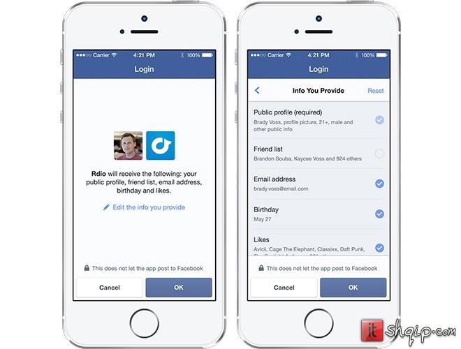 Facebook prezanton Anonymous Login dhe përditëson Facebook Login1