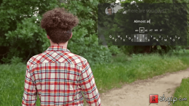 Minuum perzanton tastierën për Google Glass